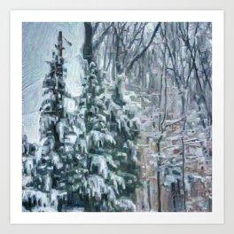 March Snow Art Print