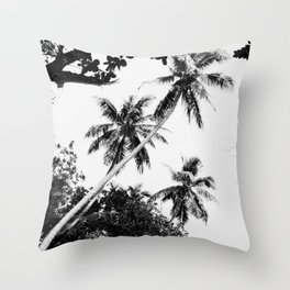 Cave trees Throw Pillow