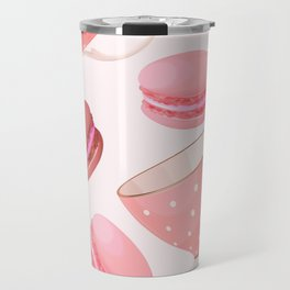 Pink Macaroons & Tea Cups Travel Mug