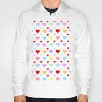 hearts Hoodies featuring Hearts by Regan's World