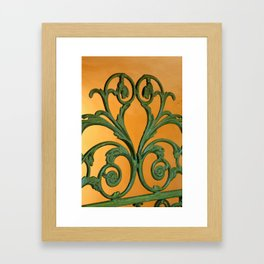 Green Iron Gate 1 Framed Art Print