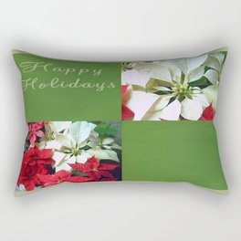 Mixed color Poinsettias 1 Happy Holidays Q5F1 Rectangular Pillow