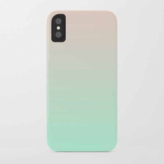 PEACH & MINT FADE iPhone Case