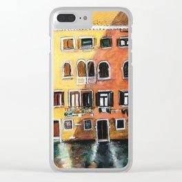 Venetian light Clear iPhone Case