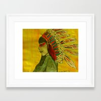 native Framed Art Prints featuring Native  by Allison Elam