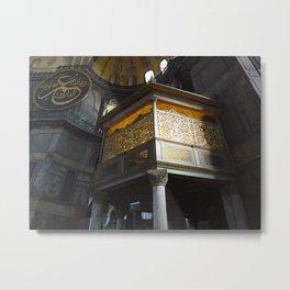Inside the Aya Sofya Metal Print