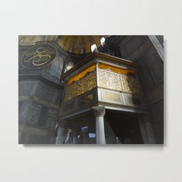 Inside the Aya Sofya Metal Print