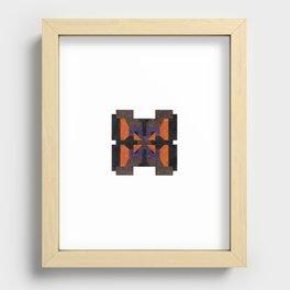 orange Recessed Framed Print