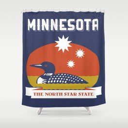 Minnesota - Redesigning The States Series Shower Curtain