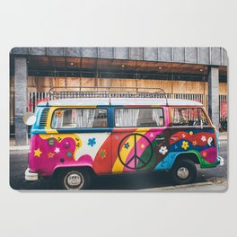 combi color flower pattern Cutting Board