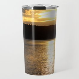 Sunset at Concord's Walden Pond 9 Travel Mug