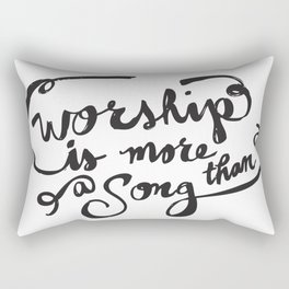 Worship is More Rectangular Pillow