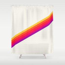 VHS Rainbow 80s Video Tape Shower Curtain