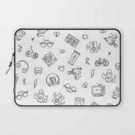 Retro tech pattern Laptop Sleeve