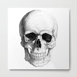 Skull in black & white Metal Print