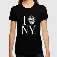 I (Woody) NY MEDIUM Womens Fitted Tee Black