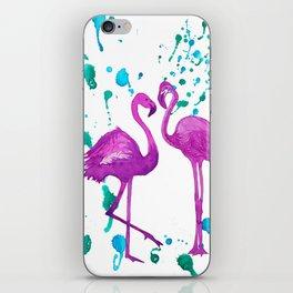 Flamingo Fun iPhone Skin