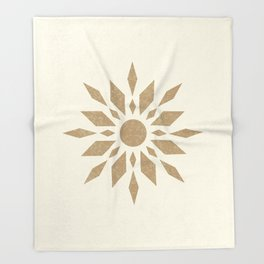 Sunburst Retro - Gold Throw Blanket
