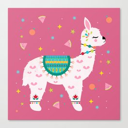 Tutti Frutti Alpaca Canvas Print