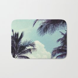Welcome to Miami Palm Trees Bath Mat