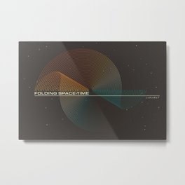 Folding Space-Time Metal Print