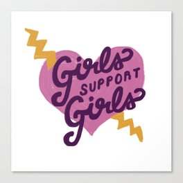 Girls Support Girls Canvas Print
