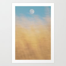 Moon Grass Art Print