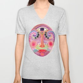 the all seing tranquility mask Unisex V-Neck