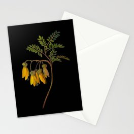 Sophora Tetraptera Mary Delany Floral Paper Collage Delicate Vintage Flowers Stationery Cards
