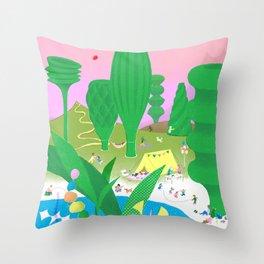 A perfect nap Throw Pillow
