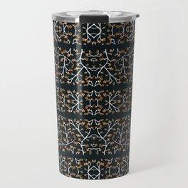 Floral Lace Stripes Print Pattern Travel Mug