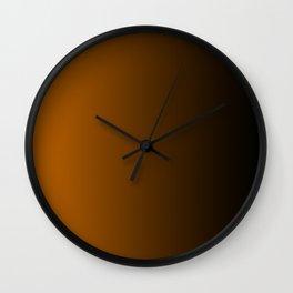Black and Orange Gradient 050 Wall Clock