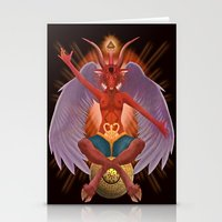 baphomet Stationery Cards featuring The Baphomet by 5th Aeon