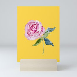 Watercolor Rose Mini Art Print