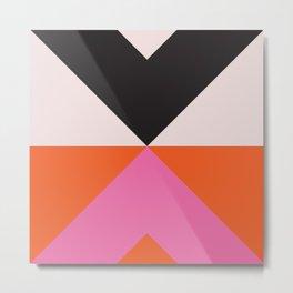 Split X Black & Pink Metal Print