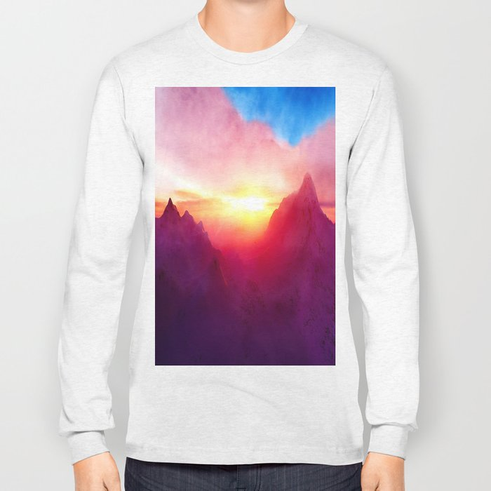pastel mountain Long Sleeve T-shirt