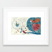 voyage Framed Art Prints featuring voyage by flaviasorr