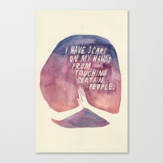 From Touching People Canvas Print