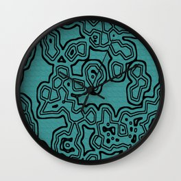 Funky Cellular Party Wall Clock