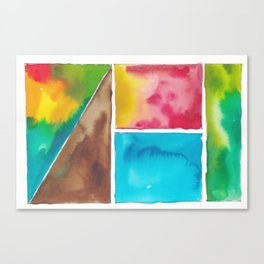 180811 Watercolor Block Swatches 10| Colorful Abstract |Geometrical Art Canvas Print