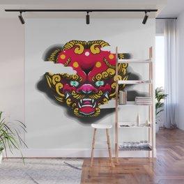 Red Foo Dog Wall Mural