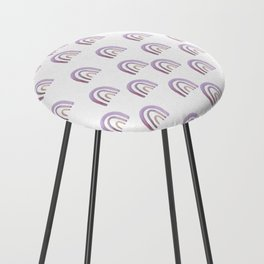 Lilac Lavender Rainbows Counter Stool