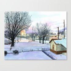 Backyard Ice Canvas Print