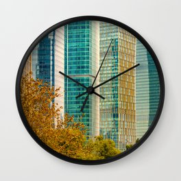 Pudong Financial District, Shanghai, China Wall Clock