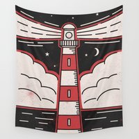 lighthouse Wall Tapestries featuring Lighthouse by Andy Rogerson