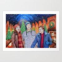 Harry Potter Christmas Art Print