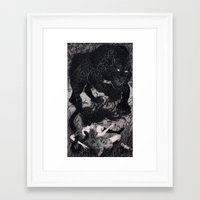 panther Framed Art Prints featuring Panther by Olivia Chin Mueller