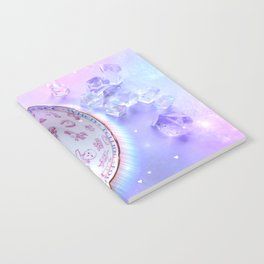 Fortune Teacup and Crystals Notebook