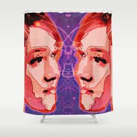 gemini Shower Curtains featuring Gemini by Steve W Schwartz Art