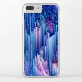 Beglitched Waterfall - Abstract Pixel Art Clear iPhone Case